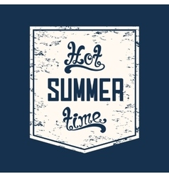 Hot summer time Calligraphic handwritten vector image
