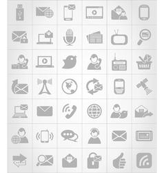 Icon communication6 vector image