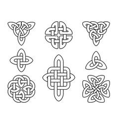 Irish celtic knots slavic mystic knot emblems vector