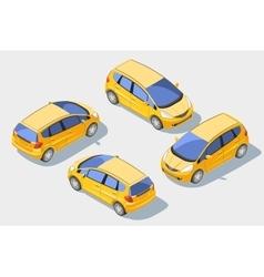 Isometric car 1 vector