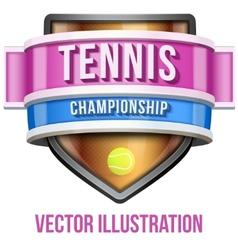Label for tennis sport competition Bright premium vector