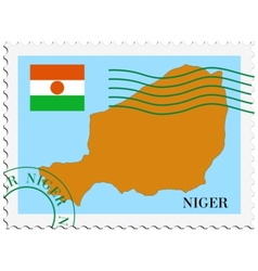 Mail to-from Niger vector