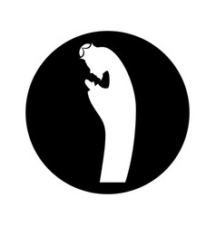 Manger saint joseph figure silhouette icon vector