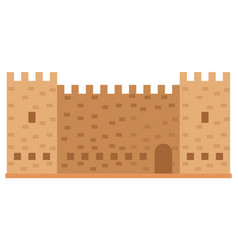 medieval fortress with towers old town in greece vector image