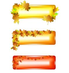 metal banners vector image