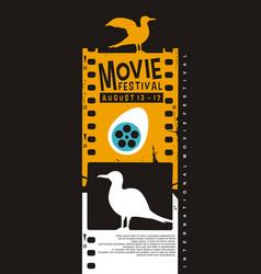 movie poster festival creative idea vector image