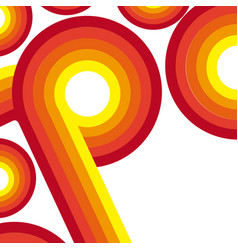 Orange abstract retro lines and curved with splash vector