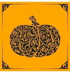 Ornamental decorative pumpkin silhouette vector