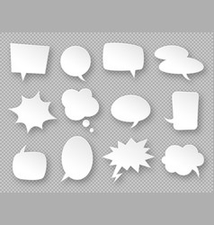 paper speech bubbles white communication bubbles vector image