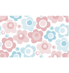 Pastel baby style floral seamless pattern vector