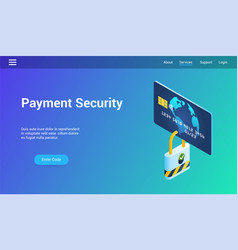 payment security 3d template vector image