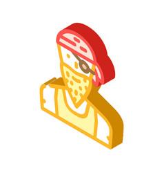 Pirate person isometric icon vector