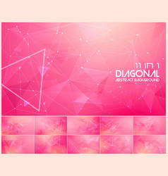 Polygonal line and low poly abstract background vector
