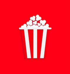 popcorn icon cinema movie night big size strip vector image