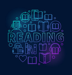 Reading round colorful vector