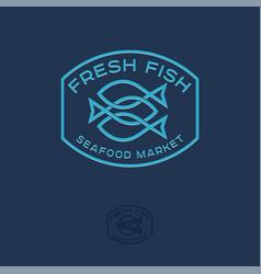 Seafood market logo vector