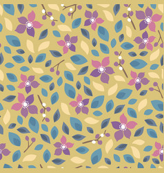 Seamless floral pattern background for invitation vector