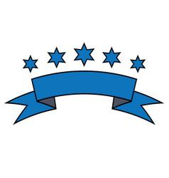 Set of ribbon baner icon vector
