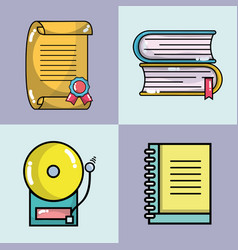 Set school tools to learn and teach vector