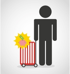 shopping person avatar flat icons vector image