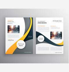 Stylish yellow gray business brochure poster vector