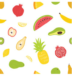 summertime seamless pattern with exotic fresh vector image