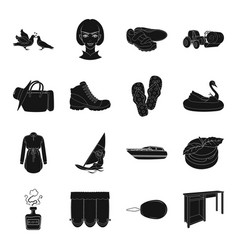 table sports wedding and other web icon in black vector image