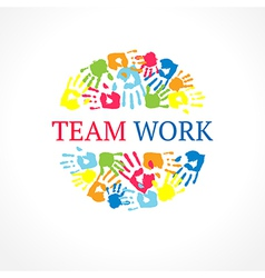 Team work symbol creative concept vector image