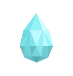 teardrop shaped diamond icon flat style vector image
