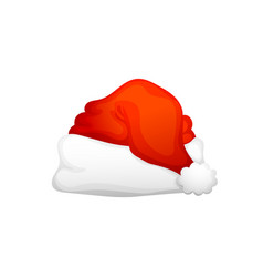 the santa claus hat vector image