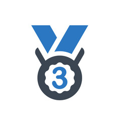 third medal icon vector image