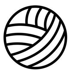 Thread sewing ball icon outline style vector