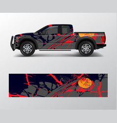 Truck and car decal wrap graphic abstract racing vector