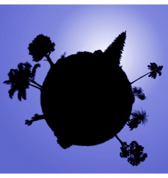 vector planet with plants vector image