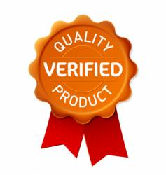 verified emblem vector image