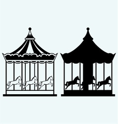 Vintage merry-go-round vector