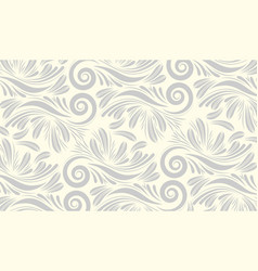 Vintage ornamental flowers background vector