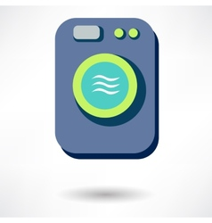Washing machine icon isolated vector