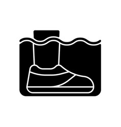 Water shoes black glyph icon vector