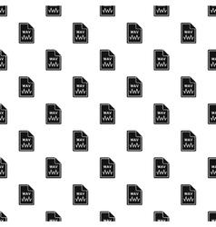 WAV file pattern simple style vector