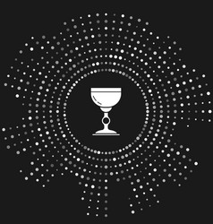 White jewish goblet icon isolated on grey vector