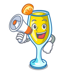 With megaphone mimosa character cartoon style vector