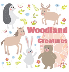 Woodland creatures vector