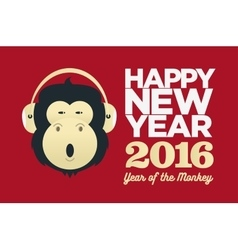 Chinese year of the Monkey 2016 New Year vector image