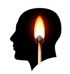Creative ideas Burning match vector image vector image