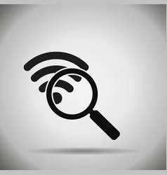 search wifi icon vector image vector image