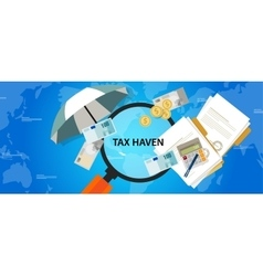 tax haven country finance business vector image