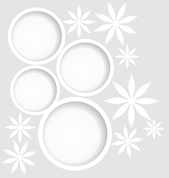 white flowers background vector image vector image