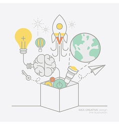 business plan idea concept outline icons vector image vector image