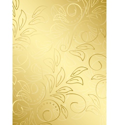 gold floral background with gradient vector image